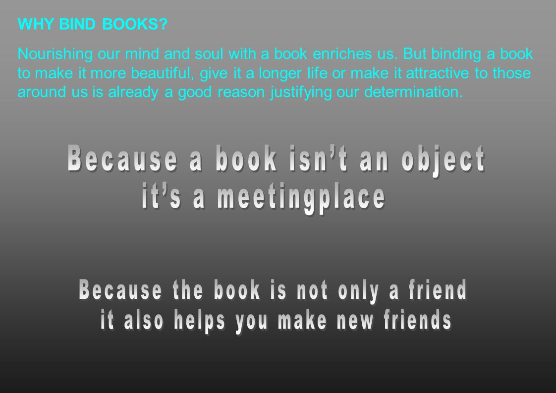 Because a book isn't an object