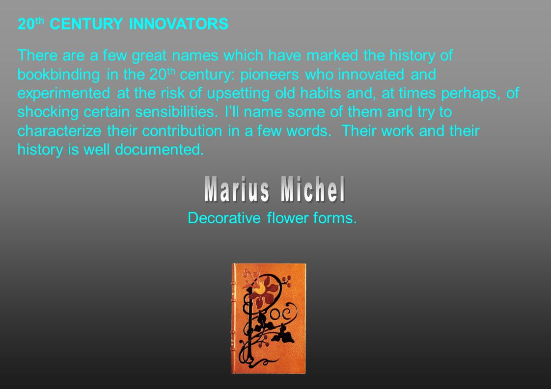 Marius Michel 20th CENTURY INNOVATORS