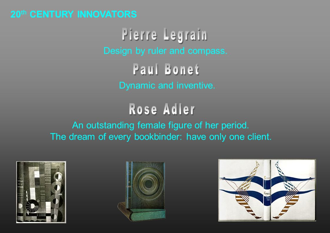 Pierre Legrain Paul Bonet Rose Adler 20th CENTURY INNOVATORS