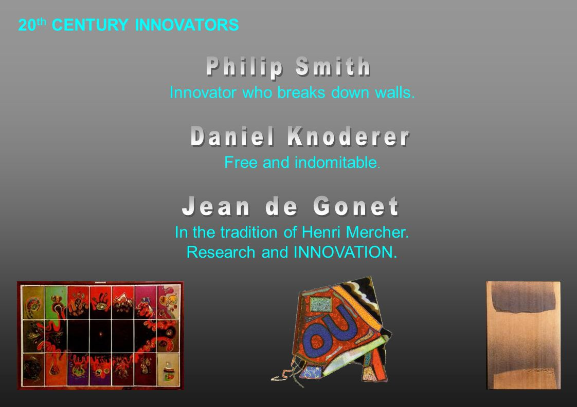 In the tradition of Henri Mercher. Research and INNOVATION.