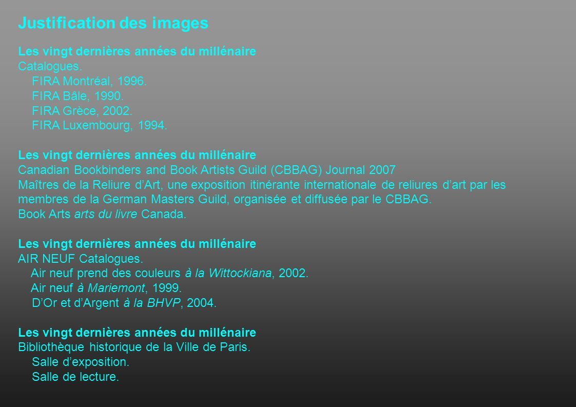Justification des images