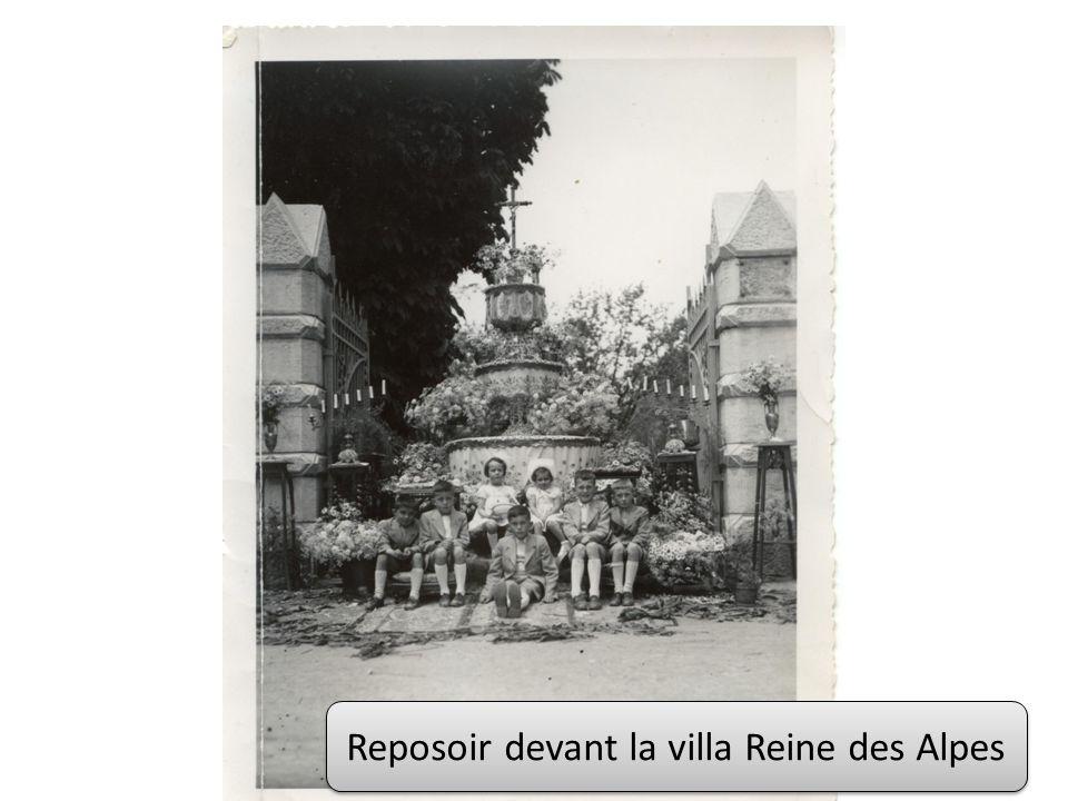 Reposoir devant la villa Reine des Alpes
