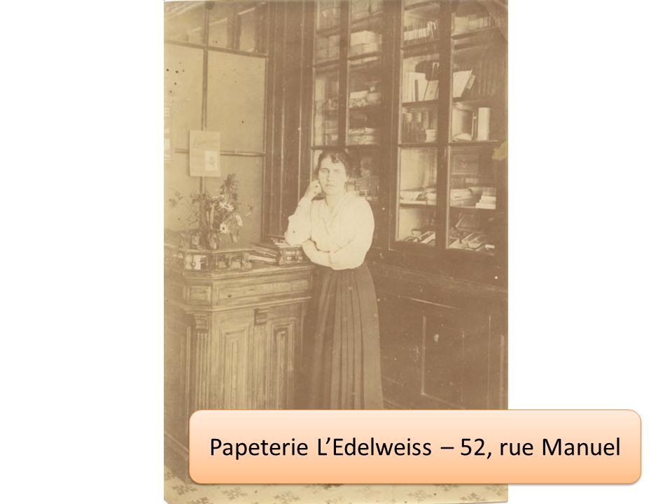 Papeterie L'Edelweiss – 52, rue Manuel