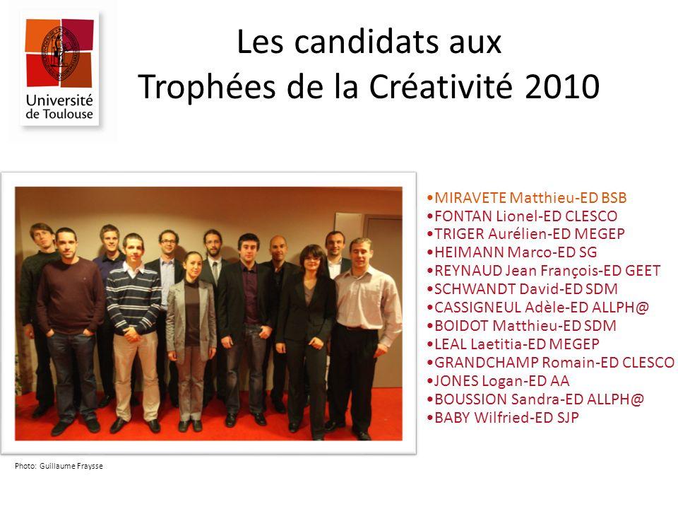 Les candidats aux Trophées de la Créativité 2010