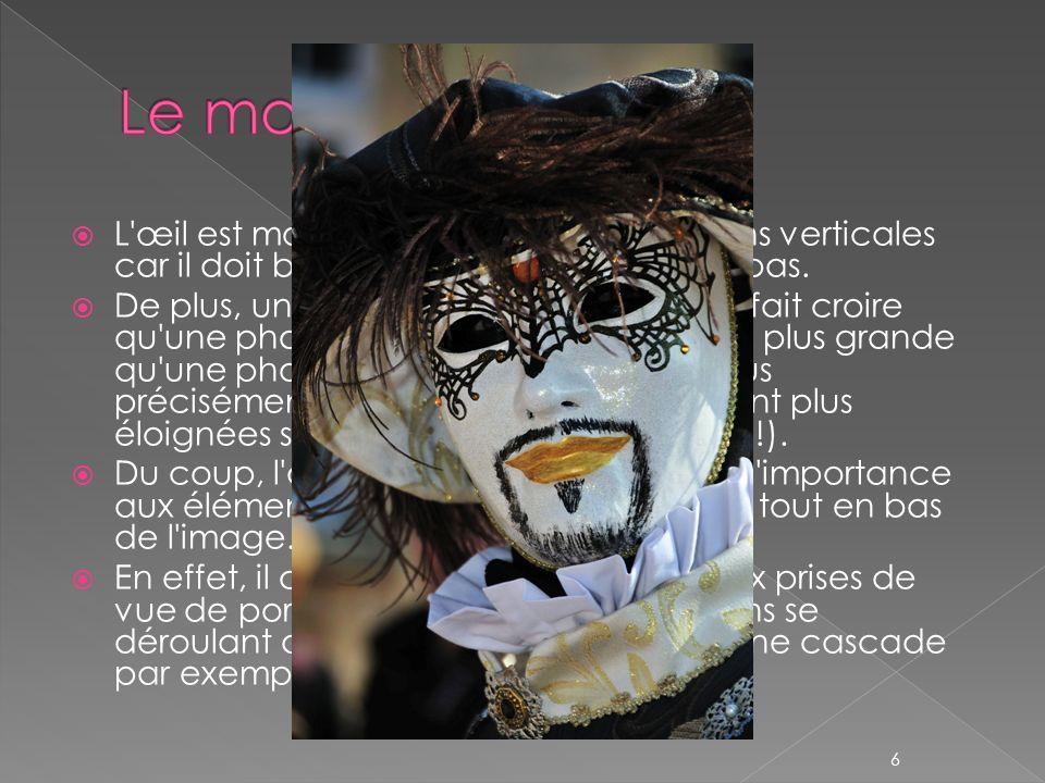 Le mode portrait L œil est moins habitué aux compositions verticales car il doit balayer la photo de haut en bas.