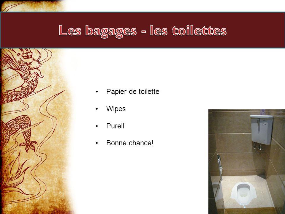 Les bagages - les toilettes