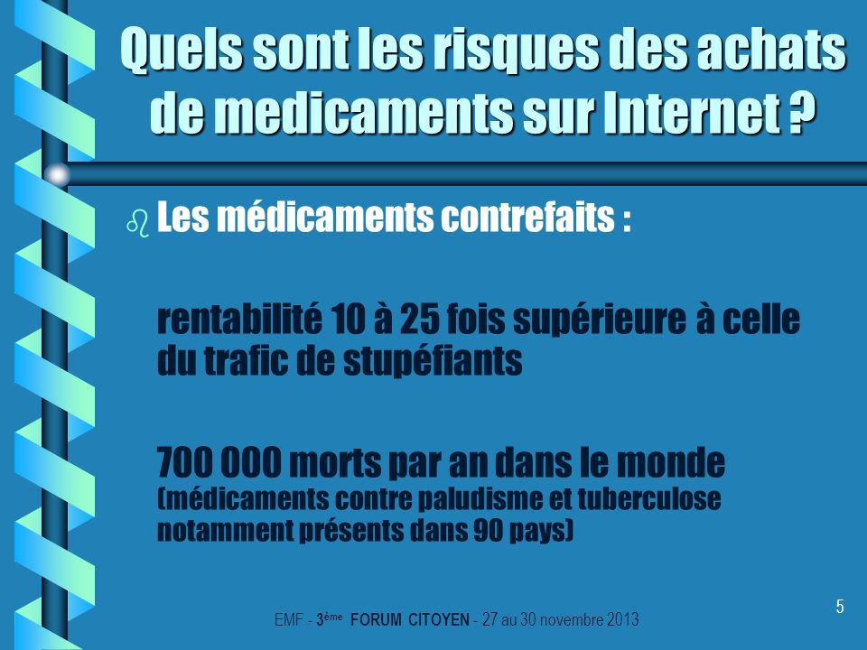 Quels sont les risques des achats de medicaments sur Internet