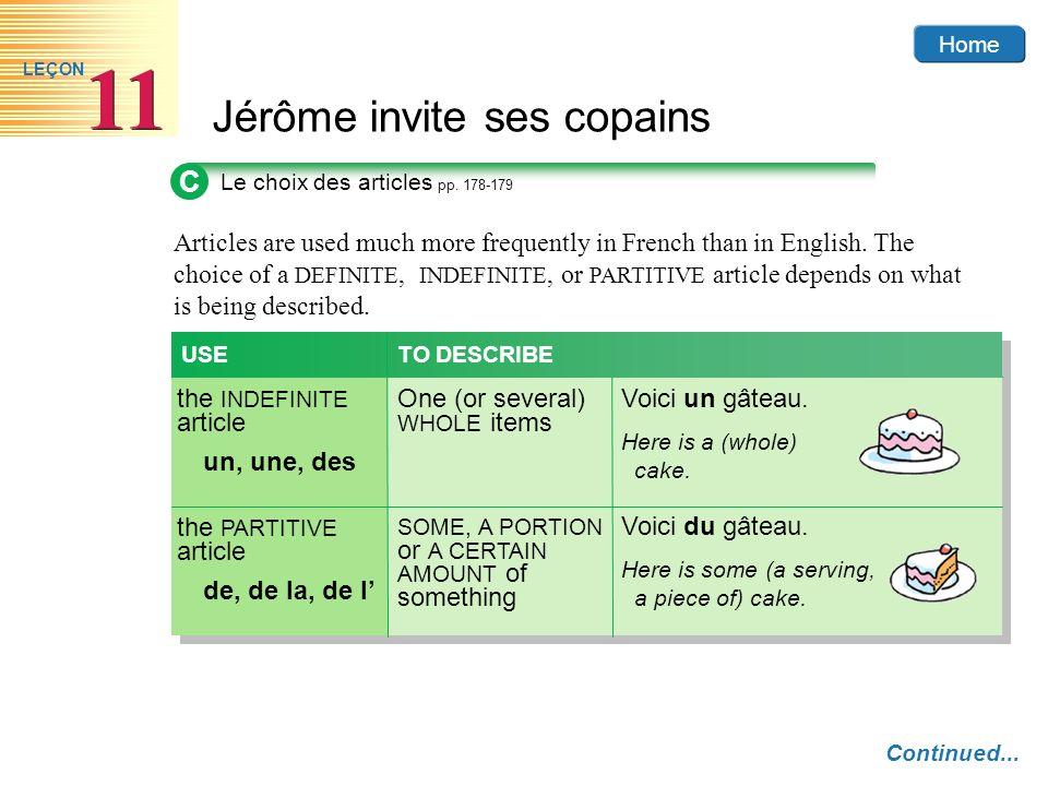 C Le choix des articles pp. 178-179.