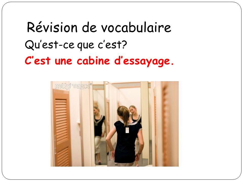 Révision de vocabulaire