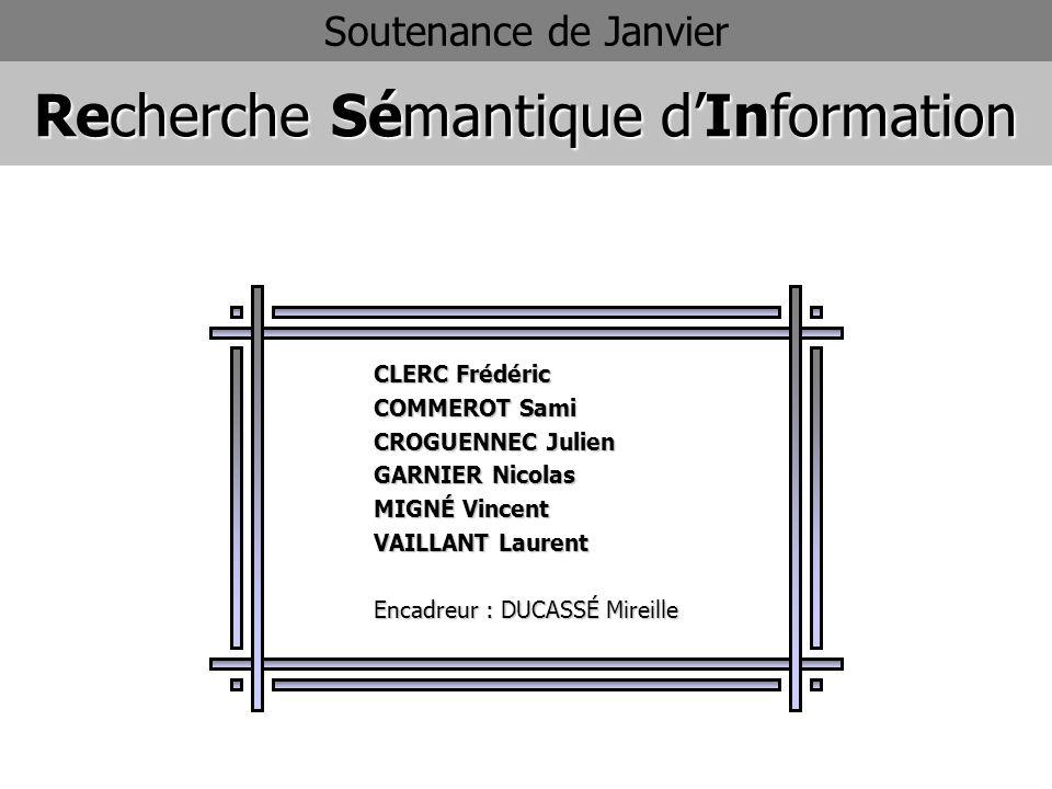 Recherche Sémantique d'Information