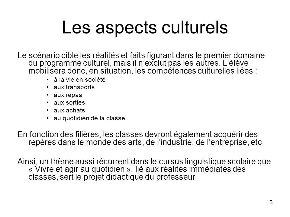 Les aspects culturels