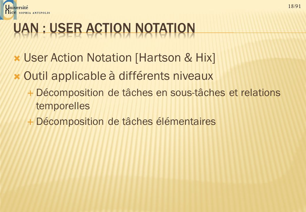 UAN : User Action Notation