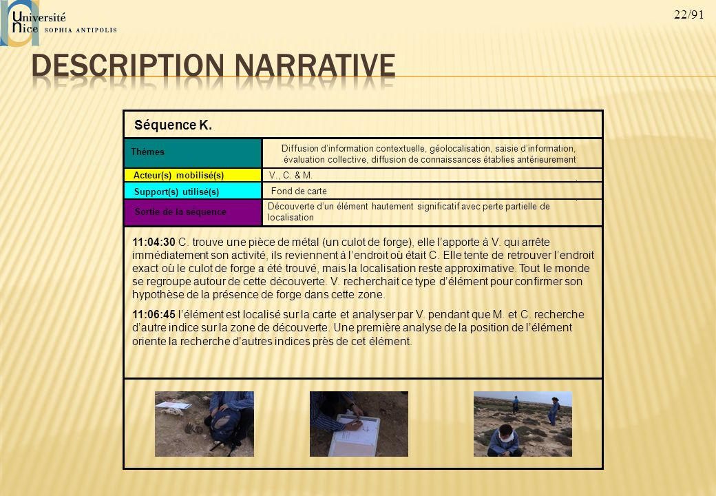 Description narrative