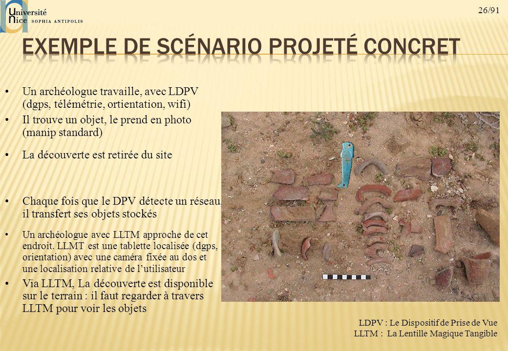 Exemple de scénario projeté concret