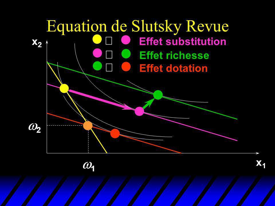 Equation de Slutsky Revue