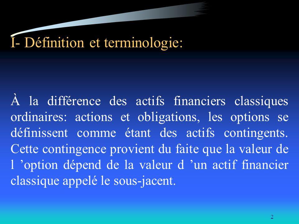 I- Définition et terminologie: