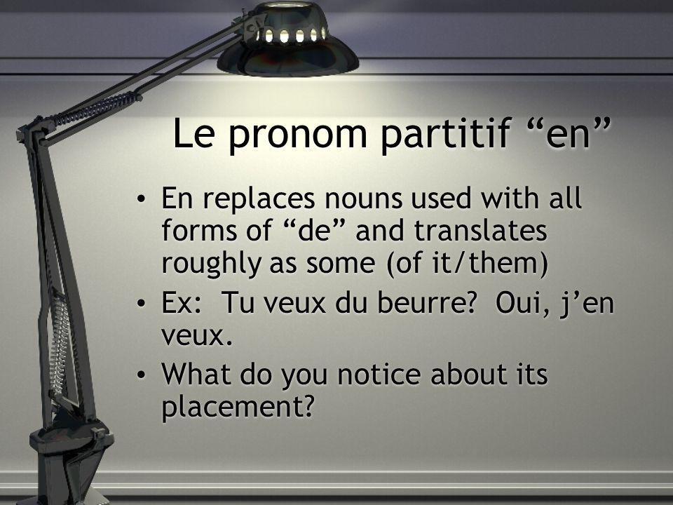 Le pronom partitif en