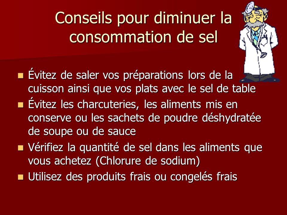 Conseils pour diminuer la consommation de sel