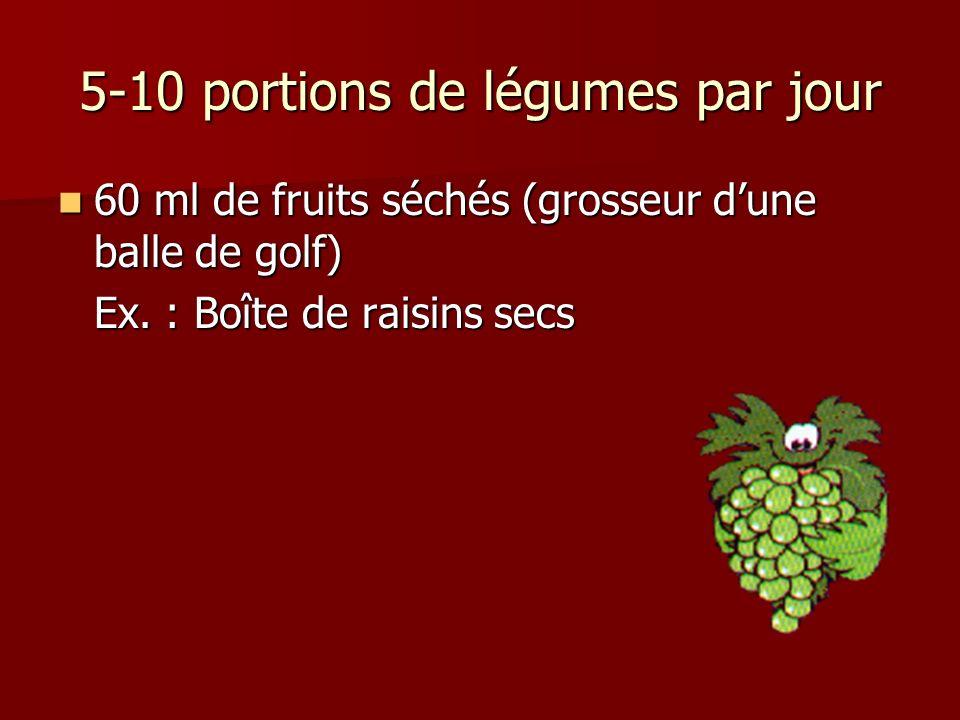 5-10 portions de légumes par jour