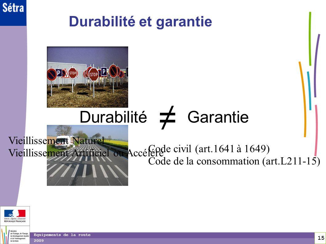 ≠ Durabilité Garantie Durabilité et garantie Vieillissement Naturel