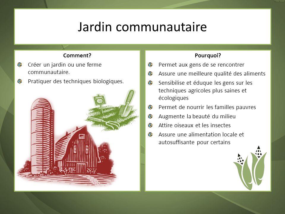 Jardin communautaire Comment