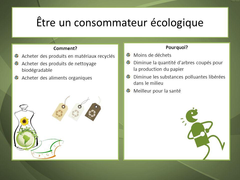 Être un consommateur écologique