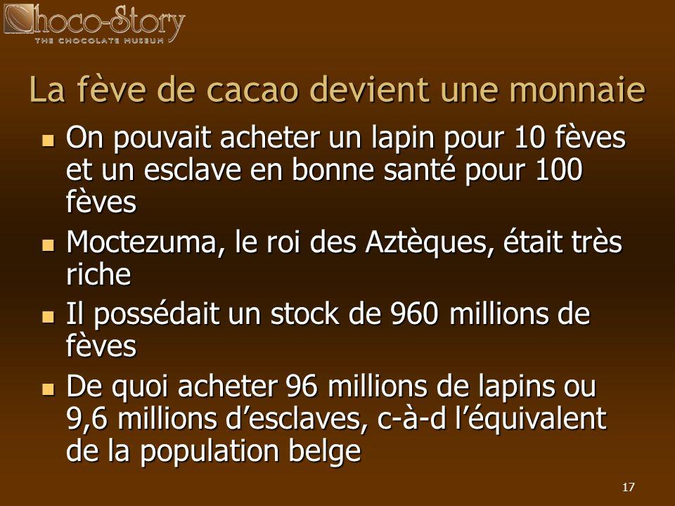 La fève de cacao devient une monnaie