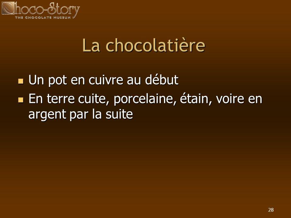 La chocolatière Un pot en cuivre au début