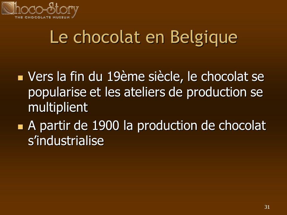 Le chocolat en Belgique