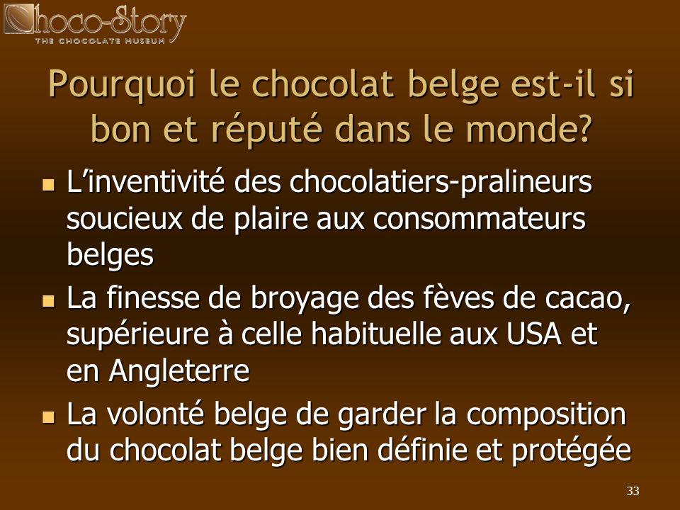 Pourquoi le chocolat belge est-il si bon et réputé dans le monde