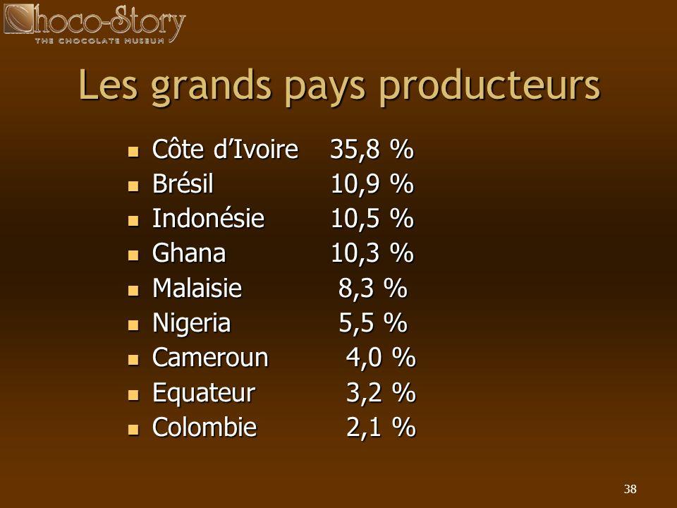 Les grands pays producteurs