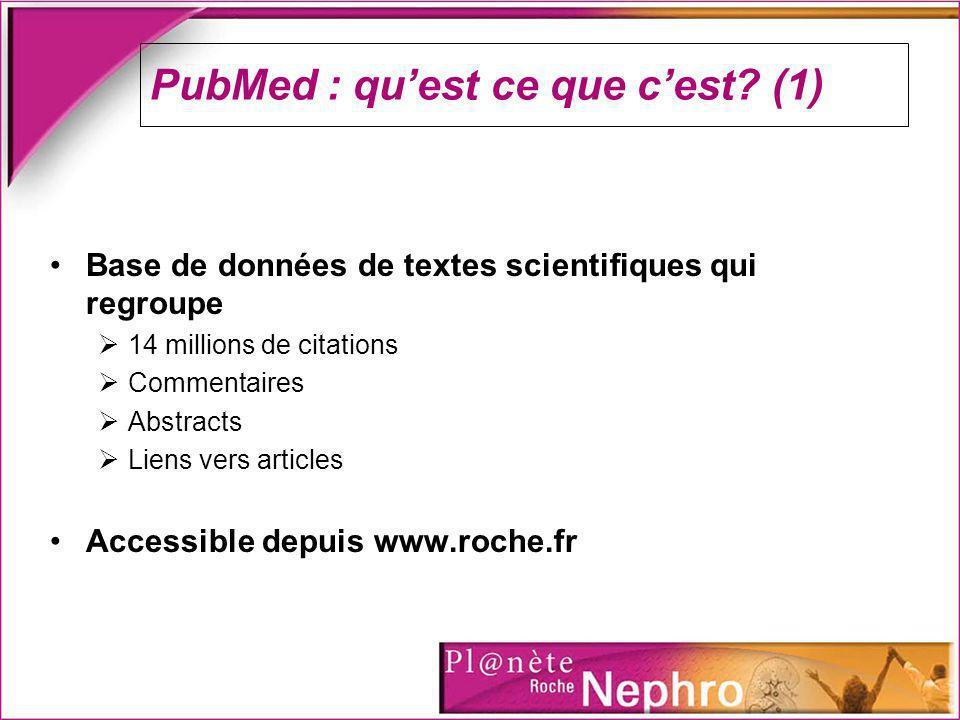 PubMed : qu'est ce que c'est (1)