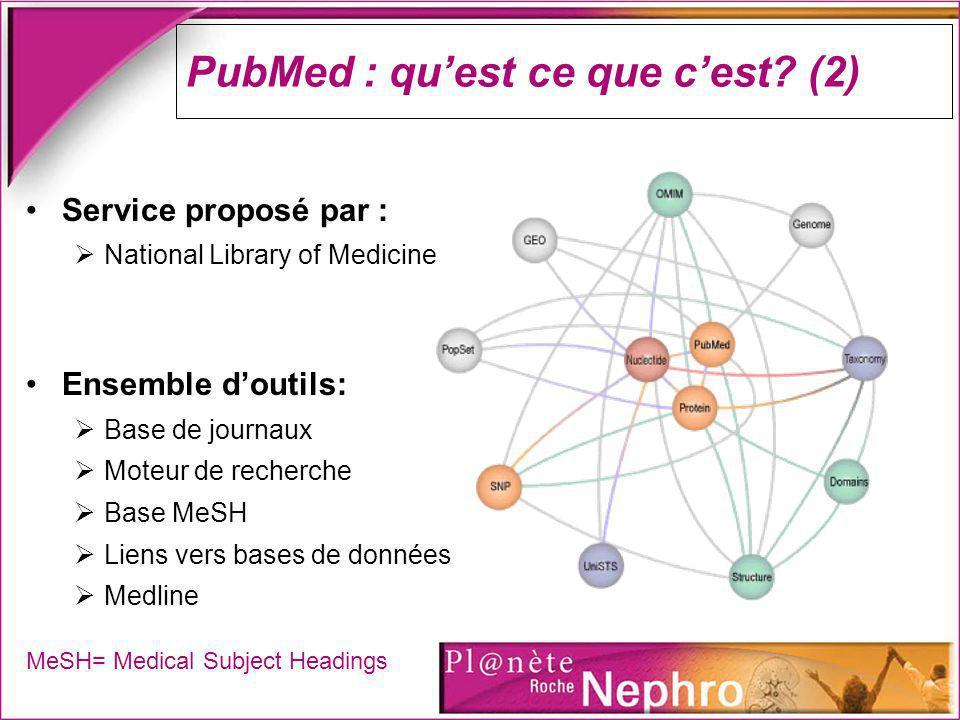 PubMed : qu'est ce que c'est (2)