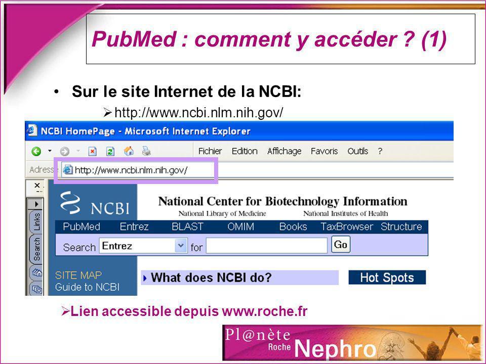 PubMed : comment y accéder (1)