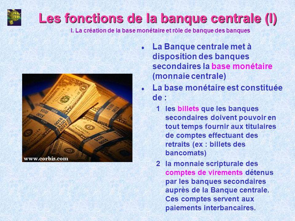 Les fonctions de la banque centrale (I)