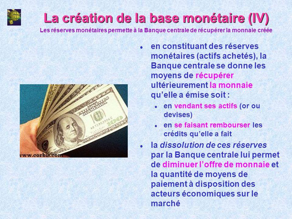 La création de la base monétaire (IV)