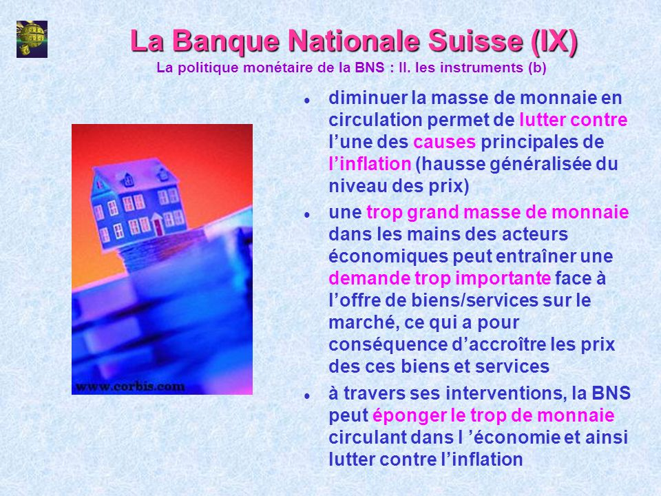 La Banque Nationale Suisse (IX)