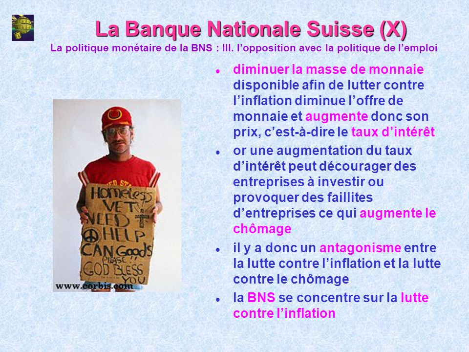 La Banque Nationale Suisse (X)