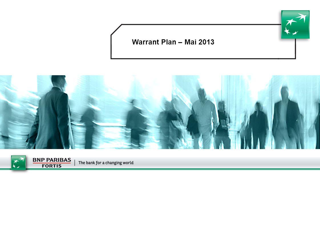 Warrant Plan – Mai 2013