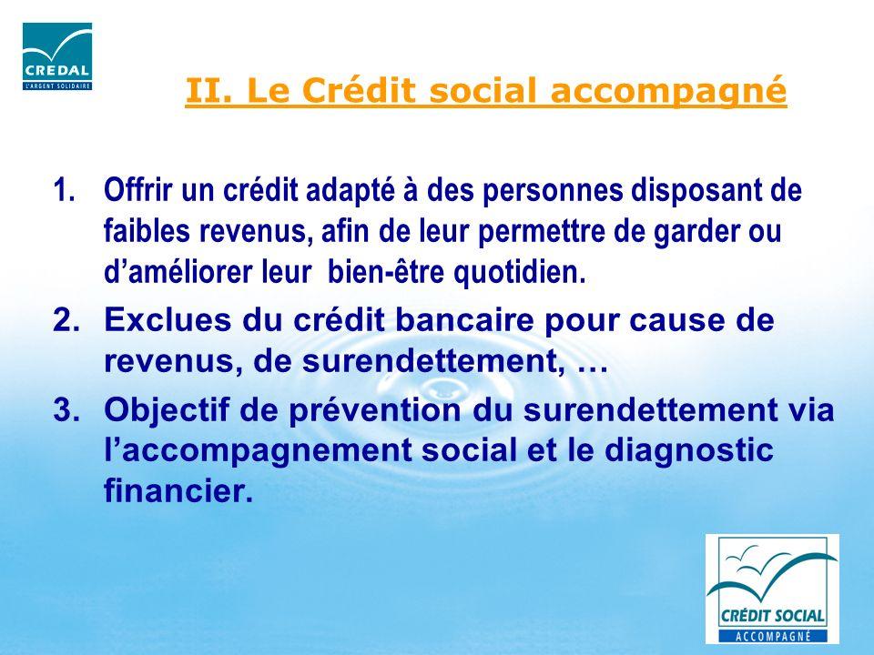 II. Le Crédit social accompagné