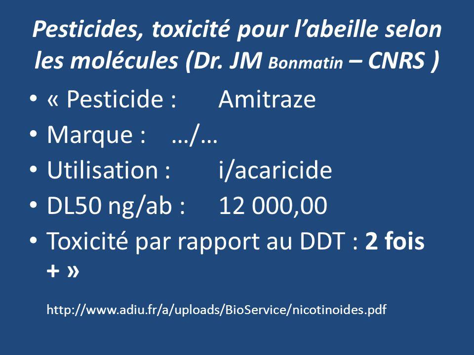 Utilisation : i/acaricide DL50 ng/ab : 12 000,00