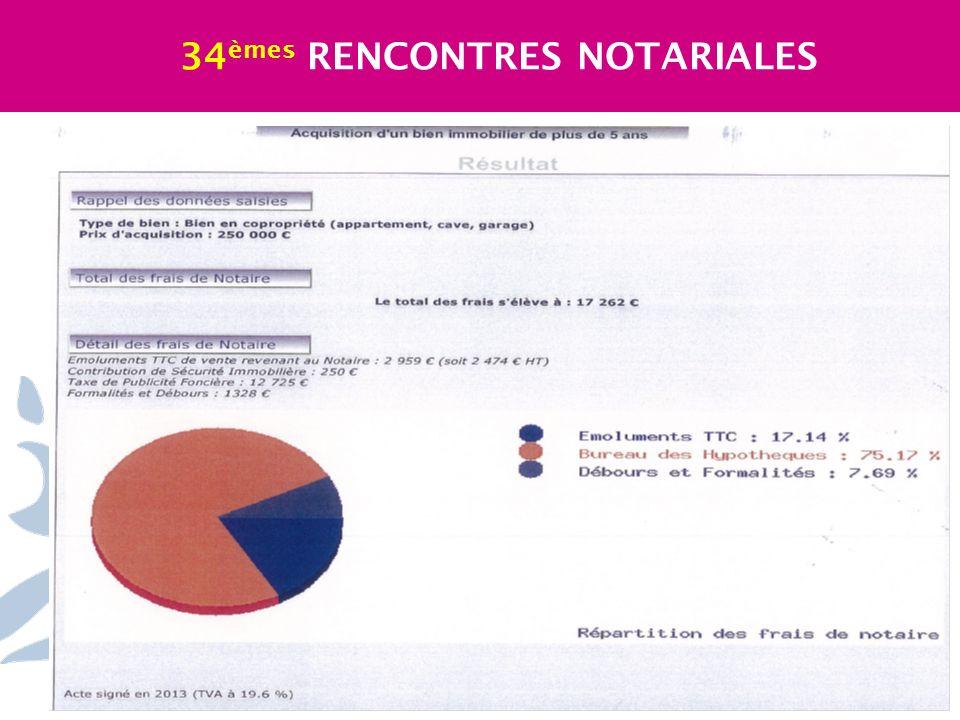 34èmes RENCONTRES NOTARIALES