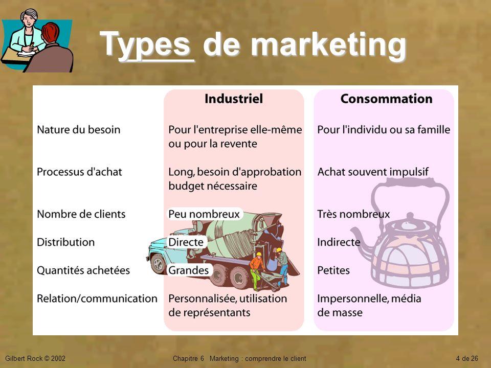 Chapitre 6 Marketing : comprendre le client
