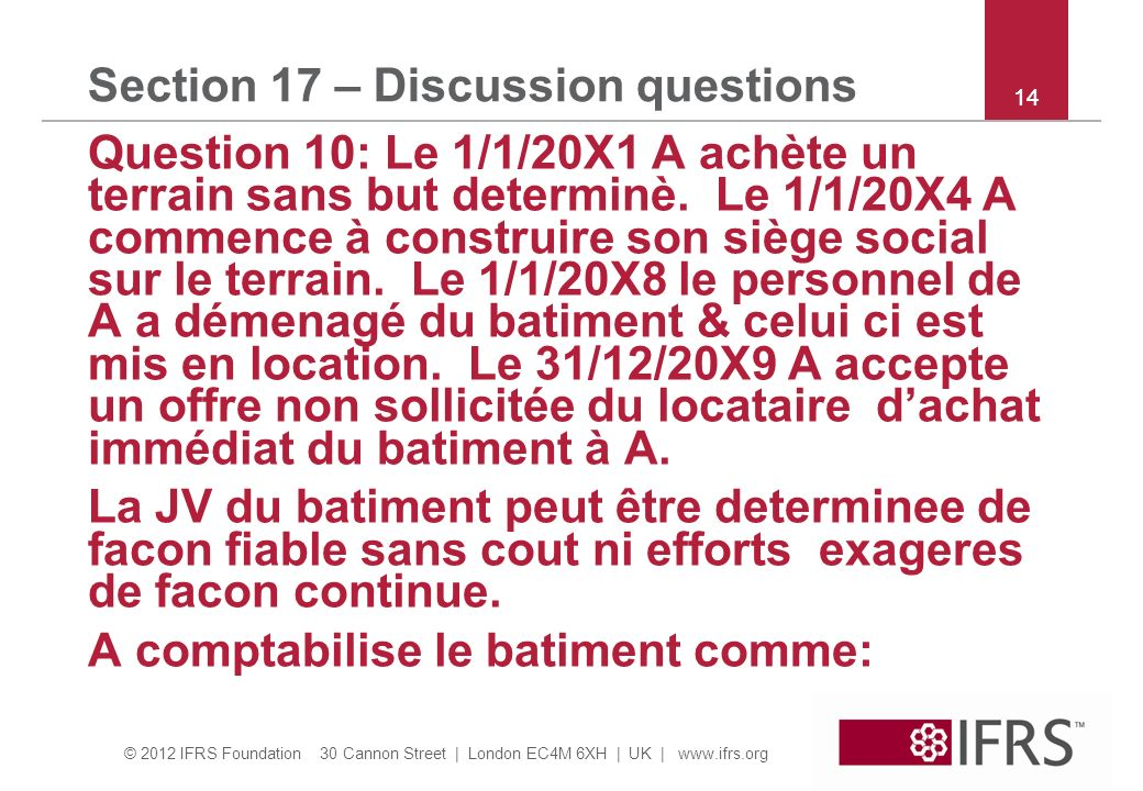 Section 17 – Discussion questions