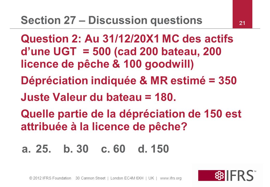 Section 27 – Discussion questions