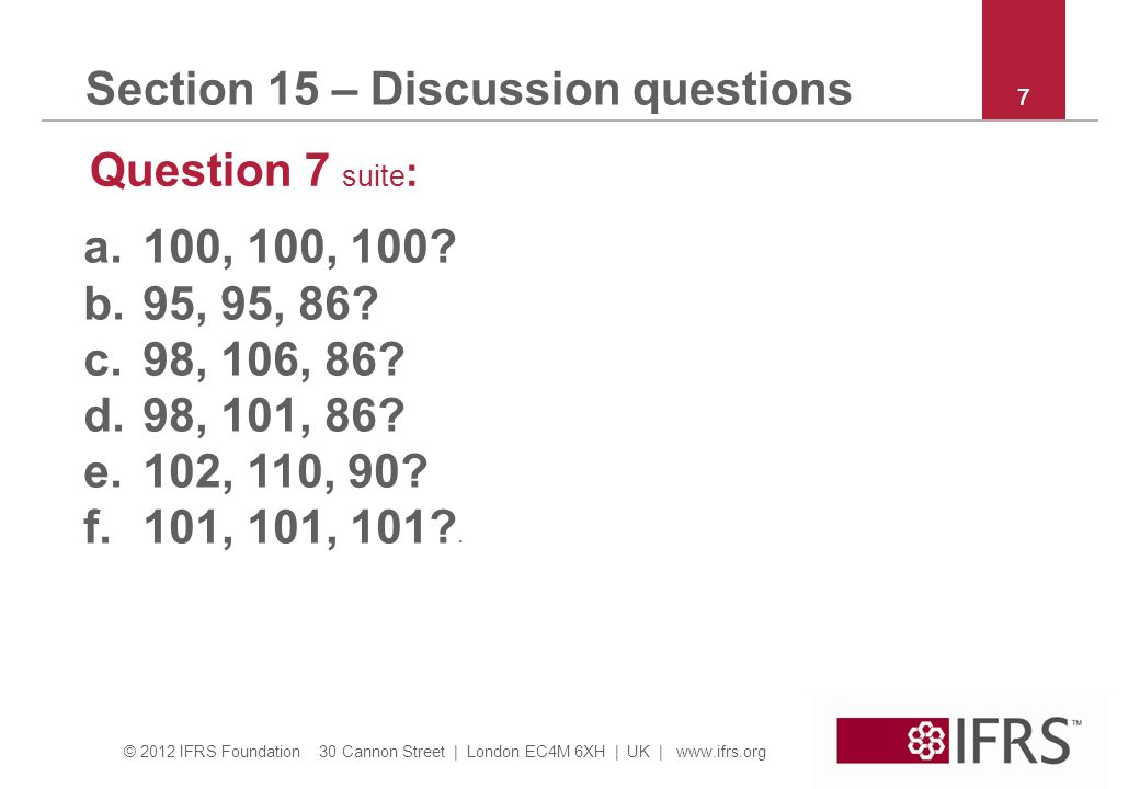 Section 15 – Discussion questions
