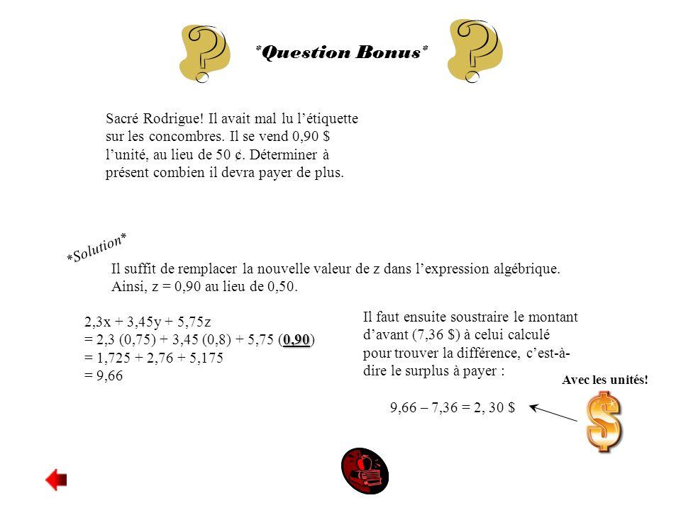 *Question Bonus*