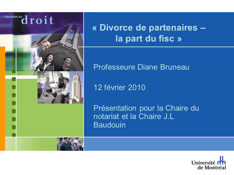 « Divorce de partenaires – la part du fisc »