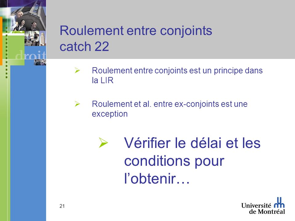 Roulement entre conjoints catch 22