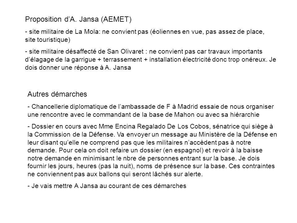 Proposition d'A. Jansa (AEMET)